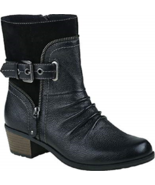 NEW EARTH LEATHER BLACK BROWN MOTO BOOTS SIZE 7.5 SIZE 8 SIZE 8.5 SIZE 9... - $54.99+