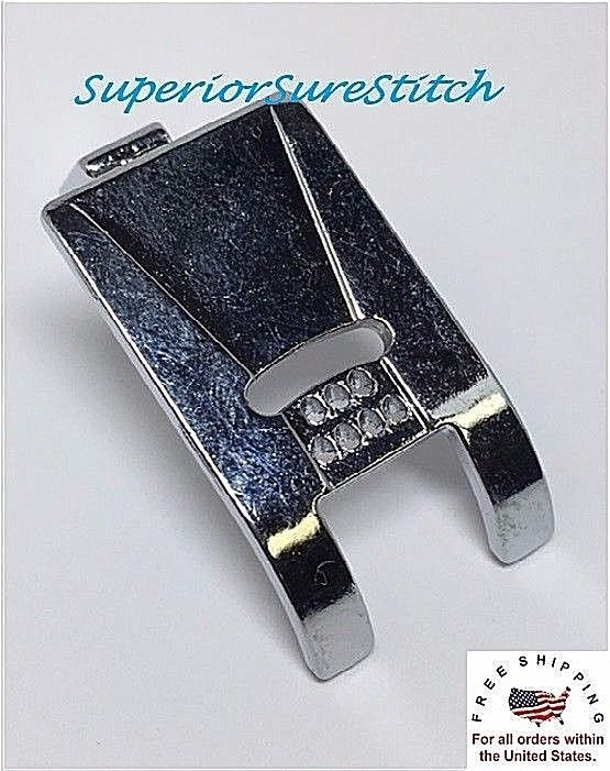 Low Shank Presser Foot 7 Hole Cording Foot For Singer Brether etc 9904L