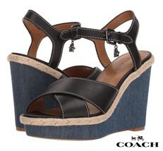 COACH Eaton Sandals Women's Wedges Platform Shoes Casual Heels Size 8.5 NIB - $102.81