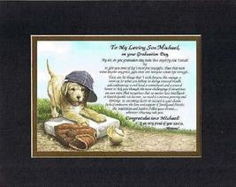 Personalized Touching and Heartfelt Poem for Graduations - To My Loving Son, On  - $22.72