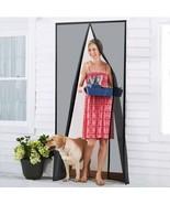 "Magnetic Screen Door Durable Fiberglass Mesh Curtain Full Frame 34""x82"" ... - $22.76"