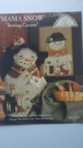 Homesun Elegance Mama Snow Sowing Carrots #164 Sandra Sullivan Snowman - $1.98