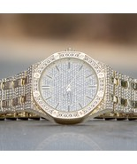 Mens Hip Hop Rapper Gold Plated Iced Out Simulated Diamond Techno Pave W... - $42.49