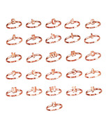 Rose Gold Initial Letters Stackable Ring (Sizes 6-8) - $79.99