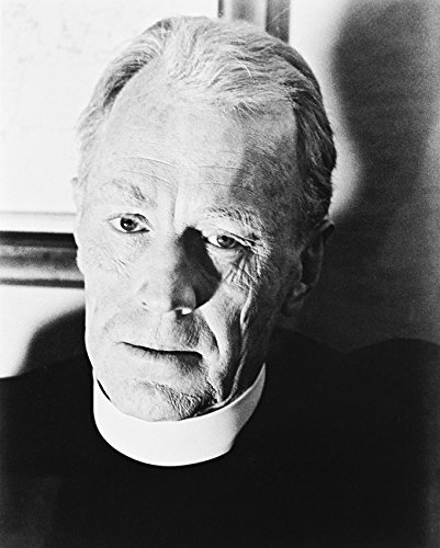 Primary image for Max Von Sydow The Exorcist B&W Print 16X20 Canvas Giclee