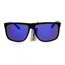 Kush Flat Top Plastic Rectangular Mirror Lens Gangster Sunglasses - $9.85+