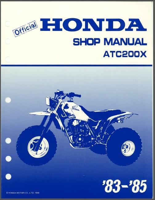 83-85 Honda ATC200X Service Repair Shop Manual CD   --   ATC 200 X ATC200 200X