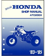 83-85 Honda ATC200X Service Repair Shop Manual CD   --   ATC 200 X ATC200 200X - $12.00