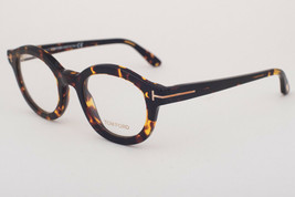 Tom Ford 5460 052 Gloss Havana Dark Brown Eyeglasses TF5460 052 49mm - $175.42