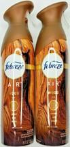 2 Febreze Air WOOD Amber, Oud & Cedar Scent Air Refresher Freshener 8.8 oz. NEW - $10.49