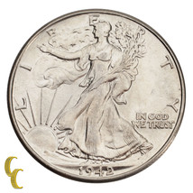 1942 Walking Liberty Silver Half Dollar 50C (Choice BU Condition) Nice Strike! - $43.56