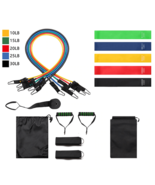 11PCs Crossfit Resistance Bands Set Exercise Bands with Door Anchor Home Workout - $39.00