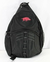 Arkansas Razorbacks Sling Backpack Teardrop Black - $34.99