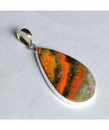 Natural Bumble Bee Jasper Pendant Affordable price 925 Sterling Silver P... - $34.55