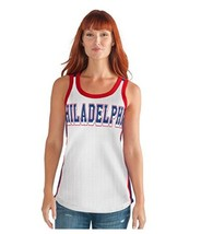 GIII For Her NBA Philadelphia 76ers Womens Opening Day Mesh Tank XL Wh/blue - $20.79
