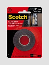 "SCOTCH MOUNTING TAPE Holds 30 lbs Double Sided Hang EXTREMELY STRONG 1""W... - £10.55 GBP"