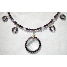 Crystal Wavelet and Beaded Loop Necklace image 2
