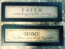Target Home Inspirational Art Lot of Two Faith and Home - £23.54 GBP