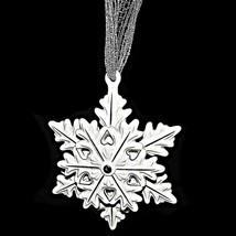 Pandora Edición Limitada 2015 Plata Blanco Cerámica Copo de Nieve Navidad - $59.49