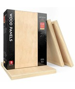 Wooden Canvas Board, 9x12 Inch, Pack of 5, Birch Wood, Cradled Artist Wo... - $115.99+