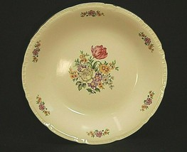 "Vintage Bouquet Floral Ribbed Edge by Bohemia Ceramic 11-3/4"" Deep Round... - $59.39"
