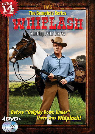 Whiplash: The Complete Series (DVD, 2012, 4-Disc Set) Peter Graves Western TV