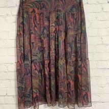 Lauren Ralph Lauren Women's Maxi Skirt 20W Navy Paisley Sheer New - $45.52