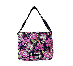 Vera Bradley Messenger Bag in Pirouette Pink with Black Interiors - $74.95
