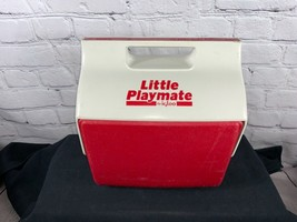 Vintage Igloo 1990's Little Playmate Red & White Lunchbox Cooler Ice Chest - $24.99