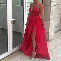 Sexy Sleeveless Evening Dress, High Slit Long Prom Dresses - $125.00