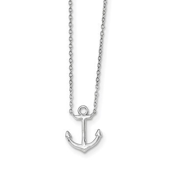 "Primary image for Lex & Lu Sterling Silver Anchor Necklace 16"" LAL17772"