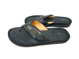 Coach New York Jaden Wedge Flip Flop Sandals Women's Size 7B-Black - $28.00