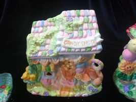 Hoppy Hollow Easter Village Ceramic Houses Set of Three (Lot #4) image 4