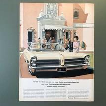 1965 Pontiac Bonneville Sports Coupe Original Print Ad 2P1-4 - $14.45