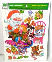Vintage 1974 Whitman GIFTS FROM SANTA Giordano Frame Tray Puzzle 4505 - $18.50