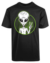 Alien Circle New Men's Shirt Funny Face Humor Personalized Short Sleeves... - £17.45 GBP