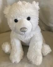 """16"""" Build a Bear White Polar Bear Silver Snowflake Patch Stuffed Plush A... - $13.56"""