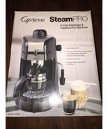 Capresso 4-Cup Steam Espresso & Cappuccino Machine W/Tray For Accessories - $58.00