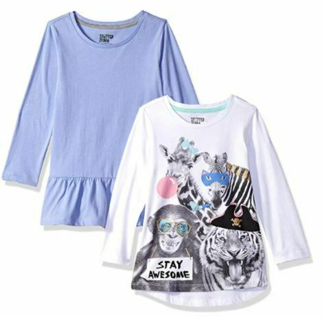 Brand - Spotted Zebra Toddler Girls' 2-Pack, Party Animals, Size 2T  NEW Sealed