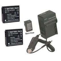 Two 2 Batteries + Charger For Panasonic DMC-FX9BB DMC-FX9BS DMC-FX9GK DMC-FX9EG - $26.97