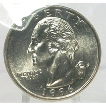 1996-P Washington Quarter In the Cello MS65  #703 - $7.99