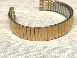 17MM SWATCH ORIGINAL WATCH BAND IRONY GOLD PLATED SWISS EXPANSION STRETCH - $17.76