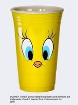 Looney Tunes Tweety Eyes Yellow 16oz Reusable Heavy Plastic Party Cup NE... - $9.74