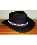 American Made! #1 Red, White & Blue Braided Leather Hat-Band,  Suede Lea... - $23.95