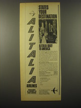 1965 Alitalia Airlines Ad - States your destination - $14.99