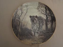 LEOPARD collector plate LONE HUNTER Charles Frace GRAND SAFARA: IMAGES O... - $24.18