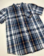 Men's Levi's White | Navy | Yellow Plaid S/S Button Down Shirt - $69.00