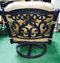 Patio Club Chair furniture Deep Seating Flamingo Swivel Rocker Aluminum Bronze image 2