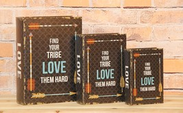 """""""Find Your Tribe Love Them Hard"""" Decorative Boo... - $24.74"""