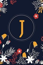 J 6x9 Journal: Lined Writing Notebook with Monogram, 120 Pages -- Yellow... - $6.71